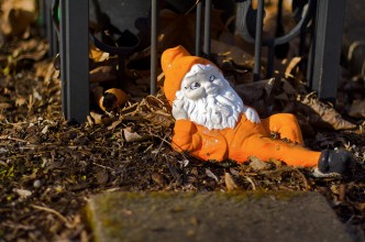 Gnome and yard ownership is a necessary condition for the emergence of every yardwork guerrilla.